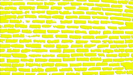 brickwall: Yellow brickwall illustration background texture isolated on white
