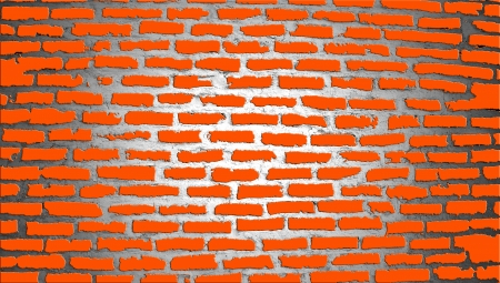 brickwall: Orange brickwall illustration texture Stock Photo