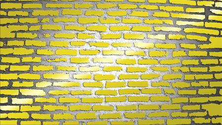 Yellow bricks wall illustration with a light ray illustration