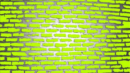 Brilliant green brickwall background illustration