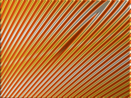 cupper: Orange cupper and silver stripes abstract background