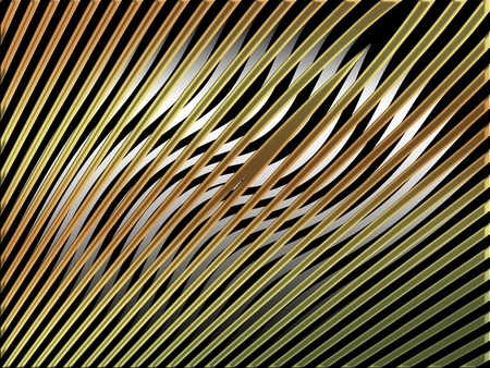 metalized: Gold stripes on light curves background