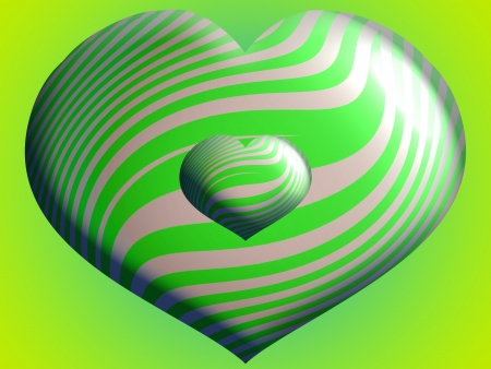 Light green heart balloons in two sizes