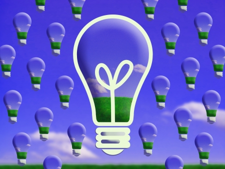 Future eco lightbulbs change conceptual image