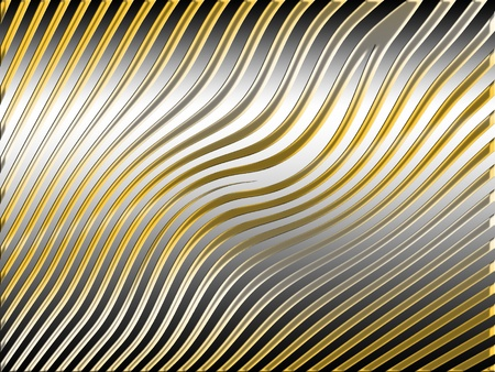 Gold and silver paralell waves striped background photo