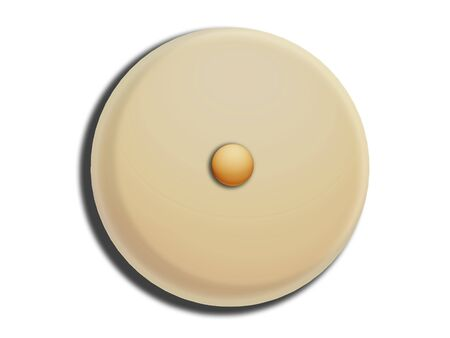 comfits: Hazelnut on a circular white chocolat illustration