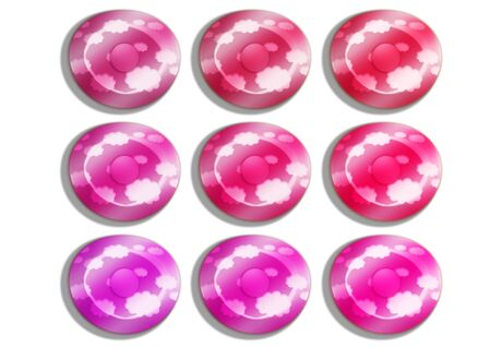 comfits: Present candies in pink isolated on white background