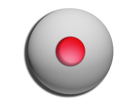 comfit: Red circle on grey sweet comfit illustration on white Stock Photo