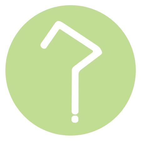 pale green: Sober faq icon in pale green