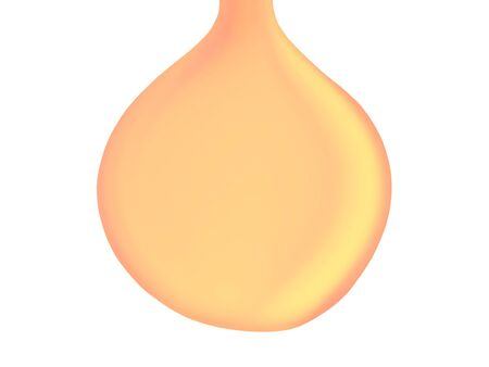 transpiration: Pale orange oil drop falling draw with copy space