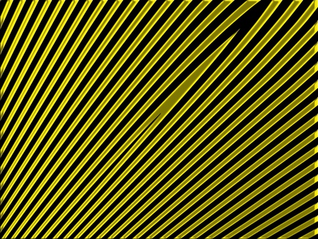 diagonal lines: Gold straight diagonal lines on black background Stock Photo