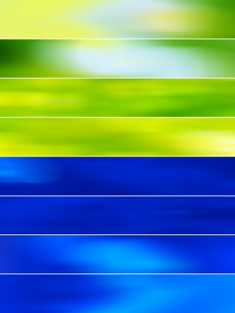 Green and blue abstract blured banners backgrounds photo