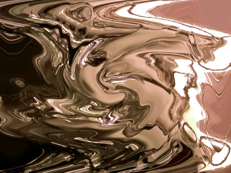brownish: Silver chocolate melted surface background
