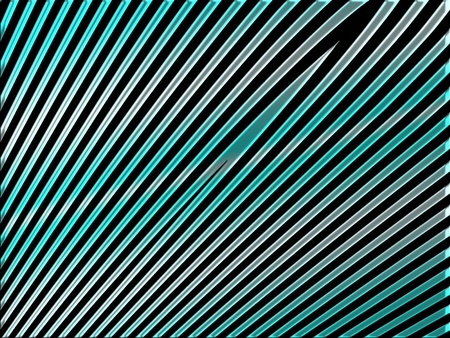 metalized: Light blue and silver straight diagonal lines on black background