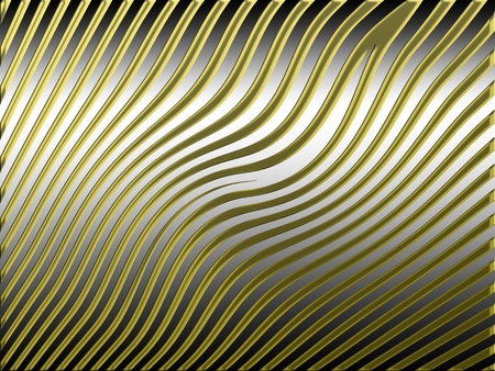 Golden waves web on silver background photo