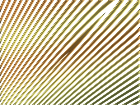 metalized: Gold straight lines on white background