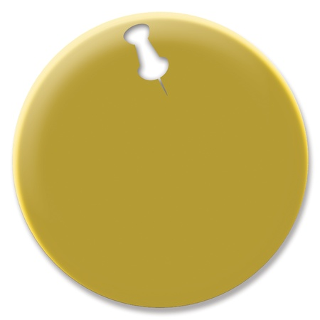 Gold pin isolated on white background photo