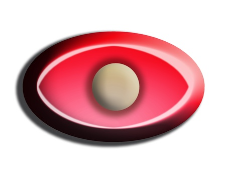 Red eye close-up confite illustration isolated on white  Stock Illustration - 20603259