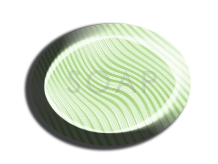 Striped light green 3d soap illustration on white illustration