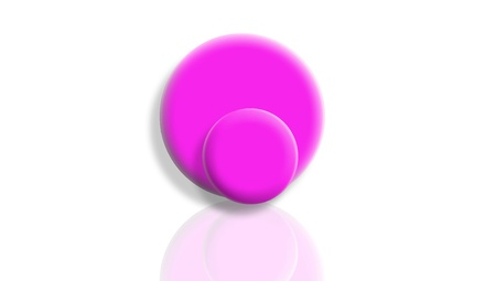 Pink toy 3d balls for sports isolated on white photo