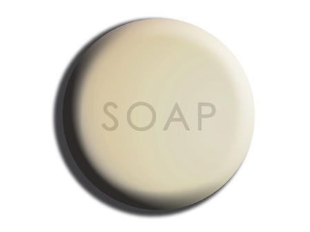 White circular creamy soap isolated illustration illustration