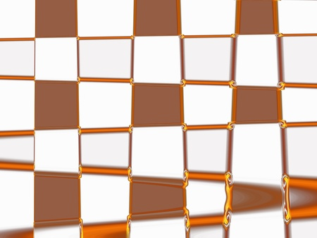 cupper: Cupper and white squares in abstract background