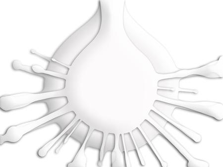 Milch fällt splash schließen bis Illustration in weißen abstrakten Hintergrund Standard-Bild - 20652078