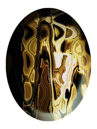 cabochon: Aghate bottone gioiello cabochon isolato su bianco
