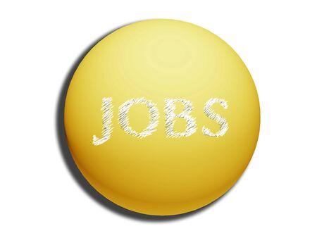 spheric: Golden yellow spheric jobs web button on white