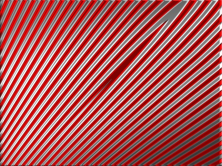 metalized: Silver metallic straight lines on red background
