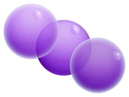 Three violet bubbles isolated on white Stock Photo - 20652379