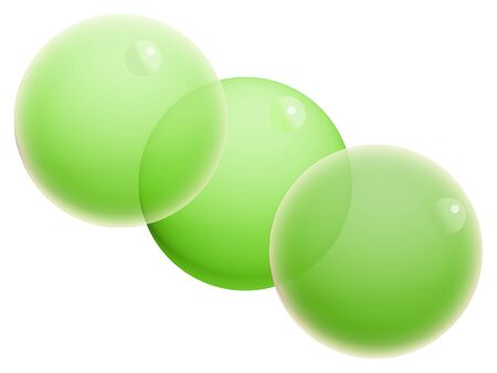 Three light green xmas crystal bubbles on white Stock Photo - 20652338