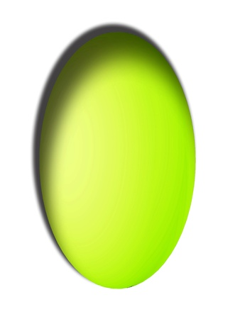 Brilliant Easter egg isolated on white background photo
