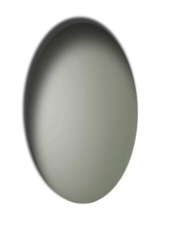 bn: Gris bot�n vertical de huevo con la sombra sobre fondo blanco Foto de archivo