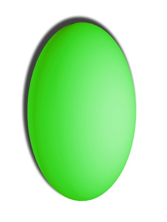 Light green Easter egg isolated on white background photo