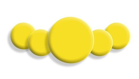 Leadership conceptual image with yellow 3d balls isolated on white photo