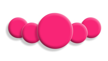Pink necklace of balls isolated on white Stock Photo