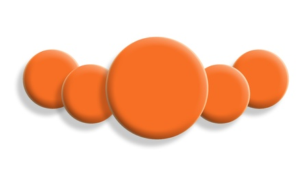 Orange necklace illustration isolated on white background illustration