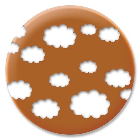 cupper: Cloud shape design on cupper circular button