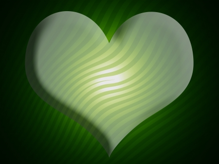 Green 3d heart shaped background for valentines day photo