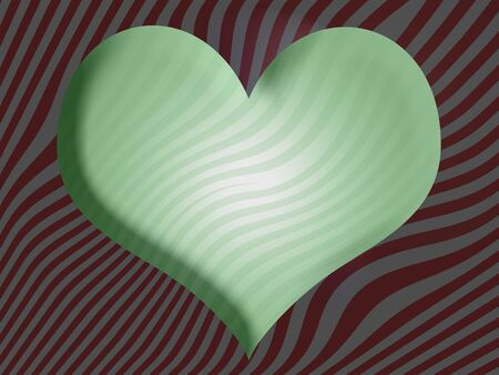 imaginarium: Green shape on striped red background