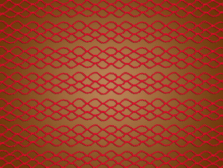 picots: Red christmas background knitted in crochet web Stock Photo