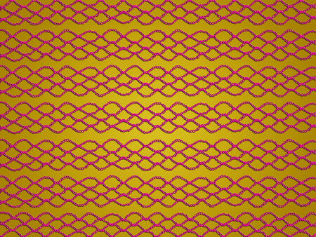 Golden and red christmas background of crochet net