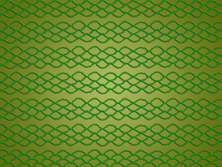 sophistication: Light green christmas background knitted in crochet laces of simple pattern