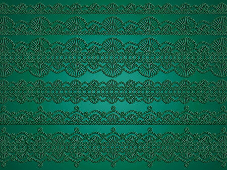 purls: Green elegant christmas background of crochet garlands