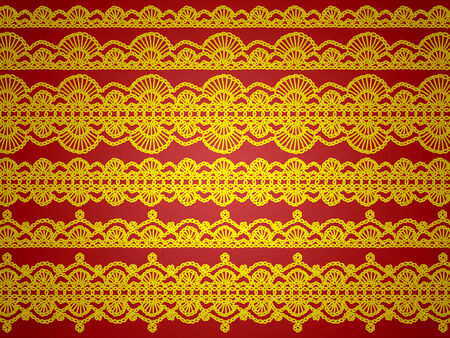 sophistication: Gold and red christmas elegant background Stock Photo