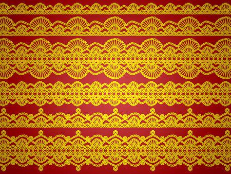 picot: Oro e rosso sfondo Natale elegante