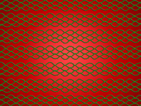 sophistication: Red xmas background with simple crochet laces net Stock Photo