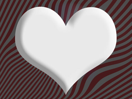 liquid x: White heart on melted snowflakes drops christmas background with abstract thin stripes in red and silver