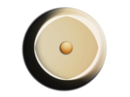 nutty: White chocolate circular bombon with a hazelnut isolated on white Stock Photo